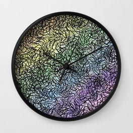 Rainbow Through Winter Canopy Wall Clock