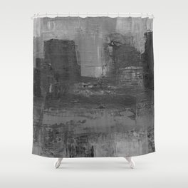 Paint Texture (Black and White) Shower Curtain