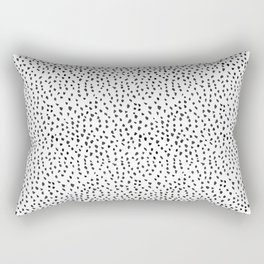 Black and White Spots Rectangular Pillow