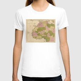 Map of West Africa (c 1718) Carte de la Barbarie, de la Nigritie, et de la Guinée T-shirt