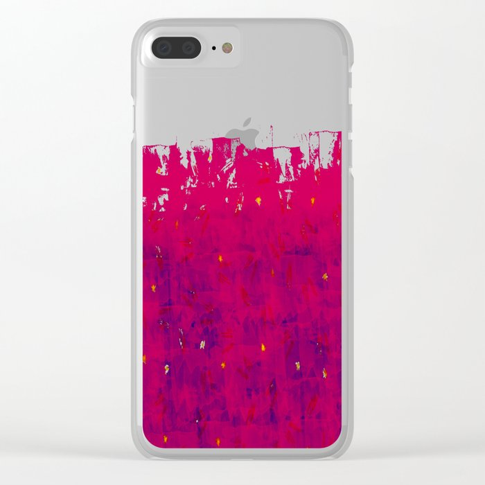 Abstract Beach Drapes Design Clear iPhone Case