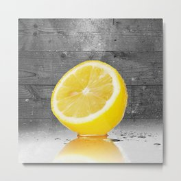 Pink Lemonade Variety Hour Lemon Graphic Metal Print