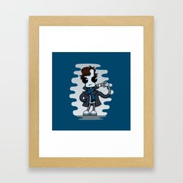 Ned the Detective Framed Art Print