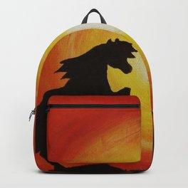 Fighting horses Backpack