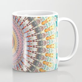 Teal Orange Yellow Boho Mandala Coffee Mug