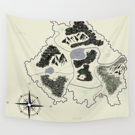 Phédour Map Wall Tapestry