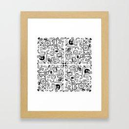 exploding positive pattern Framed Art Print