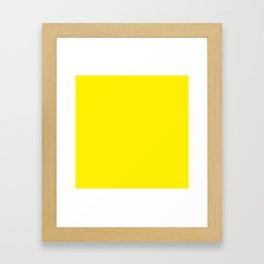 Canary Yellow Framed Art Print