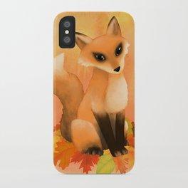 Fall Fox iPhone Case