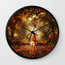 Autumn Stroll Wall Clock