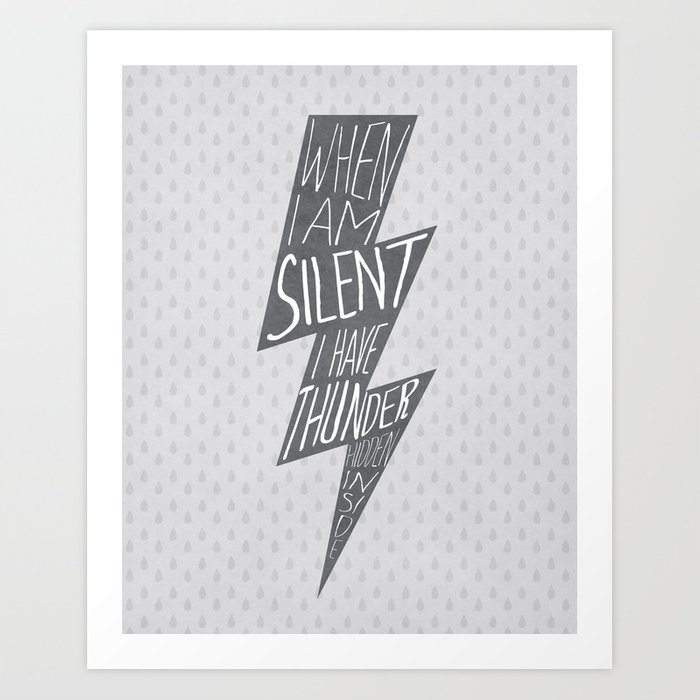 Thunder Hidden Inside Art Print