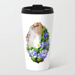 Handpainted seashell Travel Mug