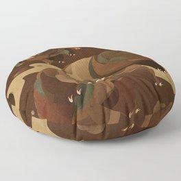 Tardigrade Enjoys Coffee Floor Pillow