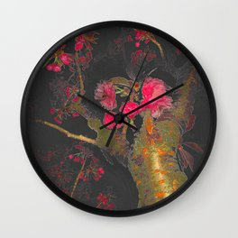 Cherry Tree Night Wall Clock