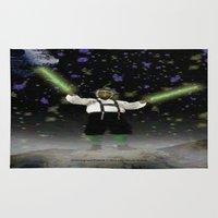 ewok Area & Throw Rugs featuring YODA-ling with FORCE - 027 by Lazy Bones Studios