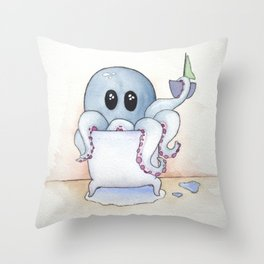 Whimsical Octopus Throw Pillow