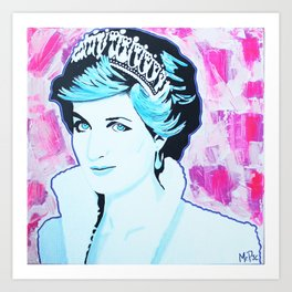 Princes Diana Art Print