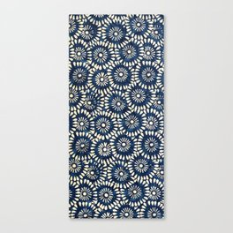 Blue and White Flower Pattern Canvas Print