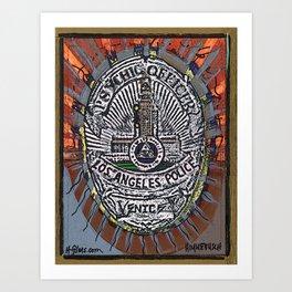 LAPD Psychic Officer  Art Print