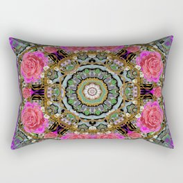 roses in a color cascade of freedom and peace Rectangular Pillow