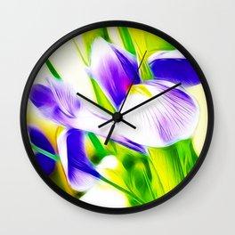 Fractalius iris Wall Clock