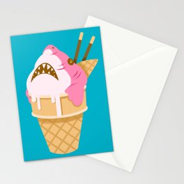 Sharks and Icecream Stationery Cards
