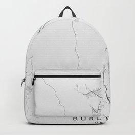 Burlington - Vermont - US Gray Map Art Backpack