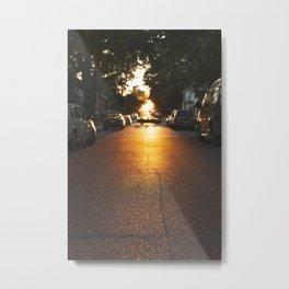 Sunny Side Street Metal Print