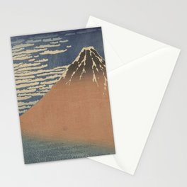 Clear weather and a southern wind - Katsushika Hokusai (1829-1833) Stationery Cards
