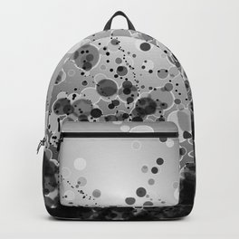 Black and White Spotted2-Grey Backpack