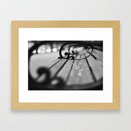 Boston Park Bench View 2 Framed Art Print
