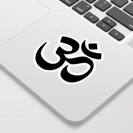 Minimal Black & White Om Symbol Sticker