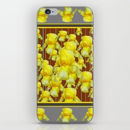 """FOR LOVE OF YELLOW IRIS"" iPhone Skin"