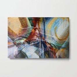 Tau abstract design Collage Metal Print