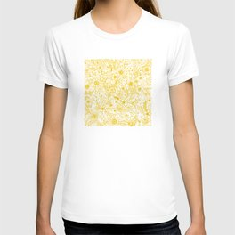 Yellow Floral Doodles T-shirt
