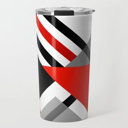 Sophisticated Ambiance - Silver & Passion Red Travel Mug
