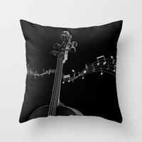 cello Throw Pillows featuring My Cello by society6-BIG