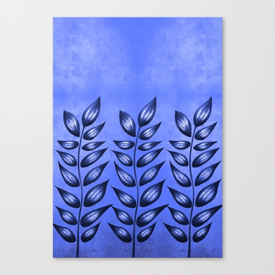 Blue Plant With Pointy Leaves Canvas Print