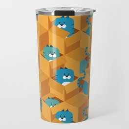 Cats in boxes Travel Mug