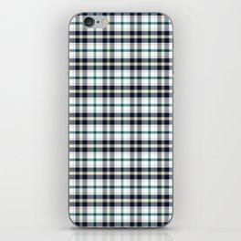 Midnight Gemstone 1200 Twill Plaid iPhone Skin
