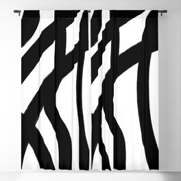 Abstract Black Lines Blackout Curtain