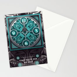 Time waits for no man Stationery Cards