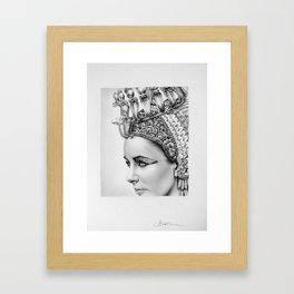 Elizabeth Taylor Cleopatra Portrait Framed Art Print