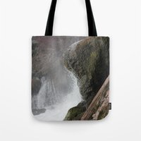 lip Tote Bags featuring The Lip by Jeffrey J. Irwin