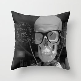 Mad Doc Throw Pillow