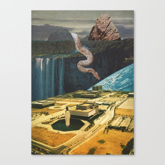 snake in the grass (with mariano peccinetti) Canvas Print