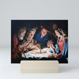 Adoration of the Shepherds Christmas Nativity Mini Art Print