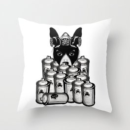 RAD VANDAL and SPRAY CANS Throw Pillow
