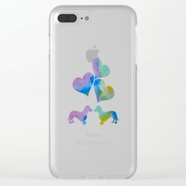 Art Dachshunds Clear iPhone Case