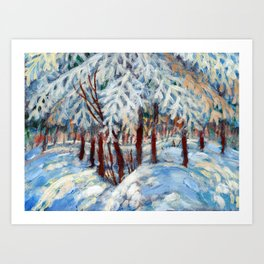 Snow in October by Dennis Weber / ShreddyStudio Art Print